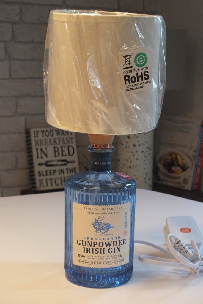 gin bottle upcycled lamp mothers day gift idea