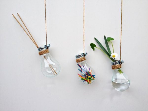 glass bulb flower display mothers day gift
