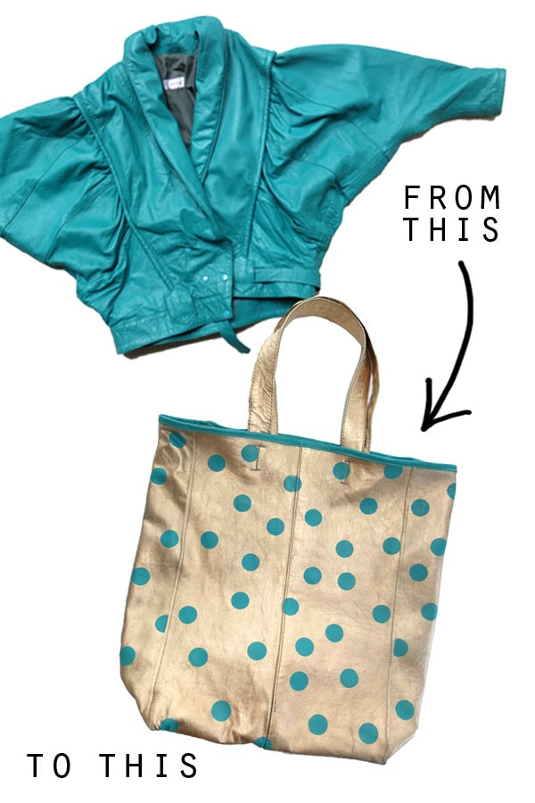 jacket to tote bag transformation