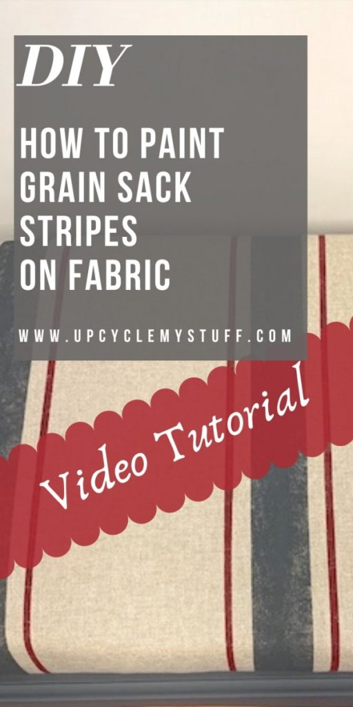 how to paint grain sack stripes on fabric
