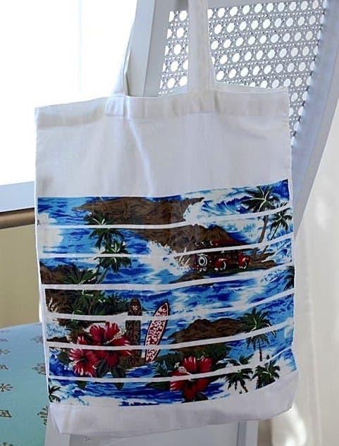 DIY tote bag ideas - scrap fabric decoration