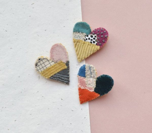 mothers day gifts on etsy - heart brooch