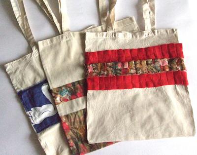 DIY tote bag ideas - ruffles