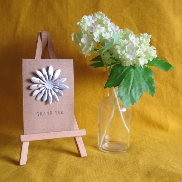 upcycled thank you card for mothers day