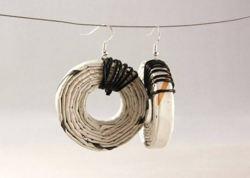 mothers day gifts on etsy - newspaper earrings