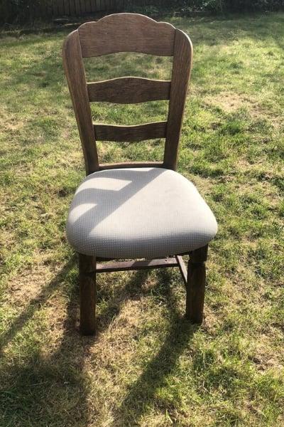 DIY chair planter before