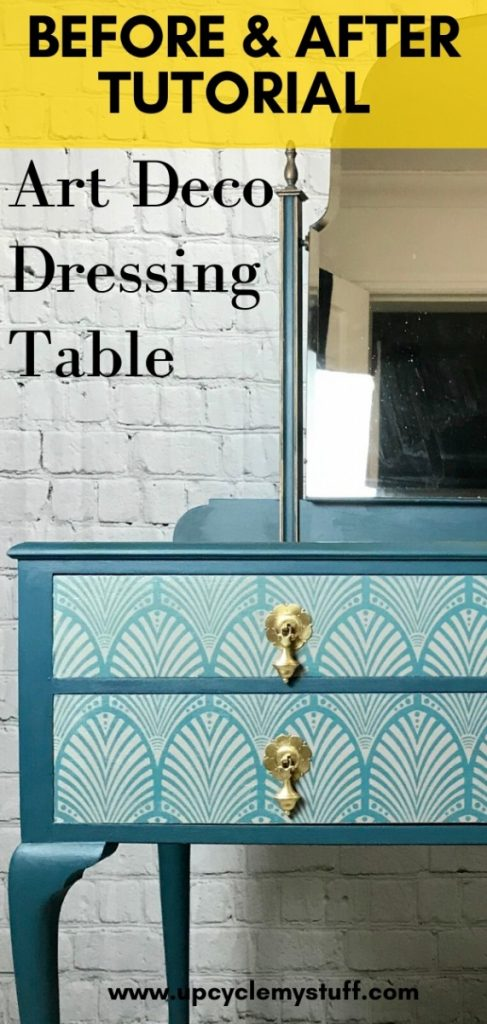 art deco dressing table makeover