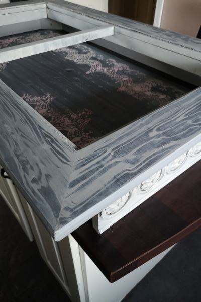 coffee table makeover adding a shadowbox