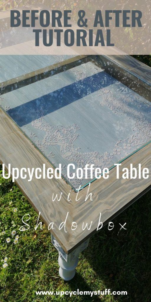 diy coffee table shadowbox