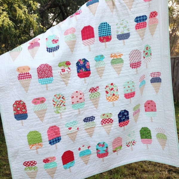 ice cream patchwork quilt sewing pattern