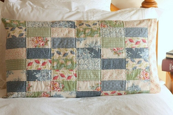patchwork pillow sham sewing pattern