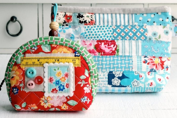 patchwork pouches sewing pattern bundle