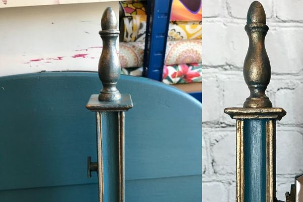 gold accents dressing table makeover