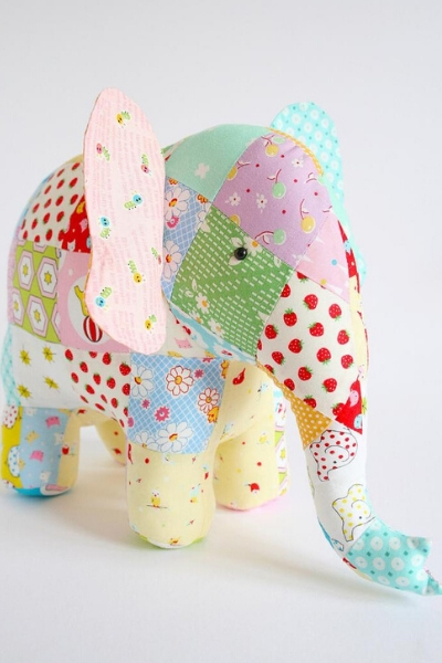 soft toy elephant sewing pattern