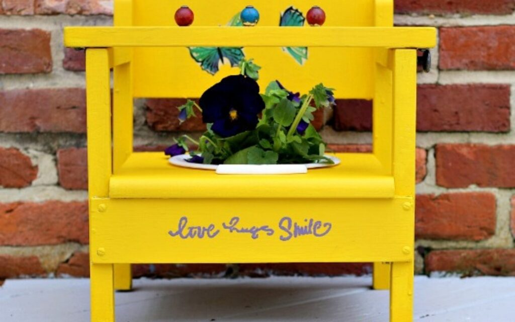 upcycled planter from a potty