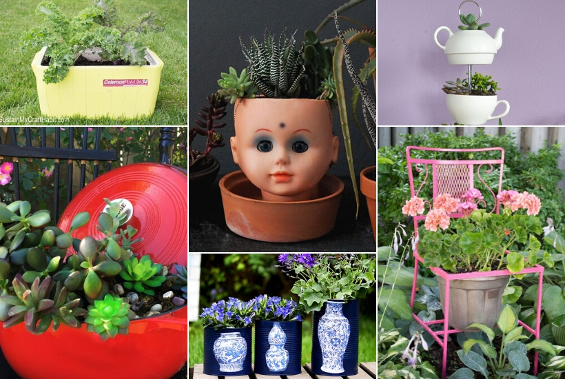 47 upcycled planter ideas that are easy to make