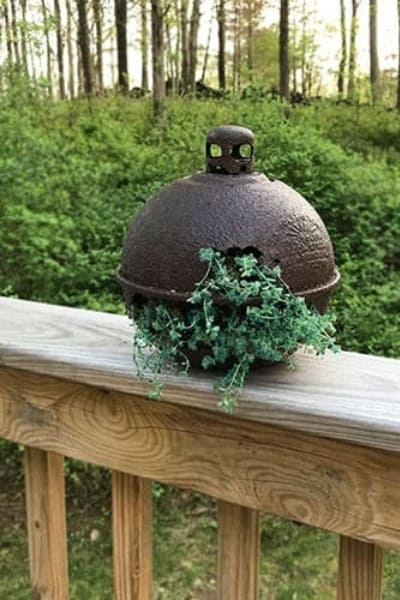 upcycled smudge pot planter