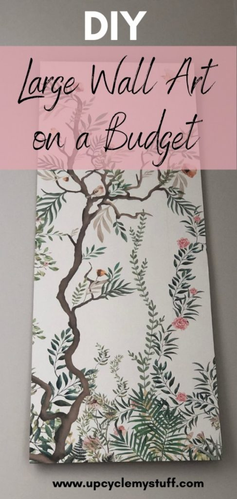 DIY large wall art on a budget