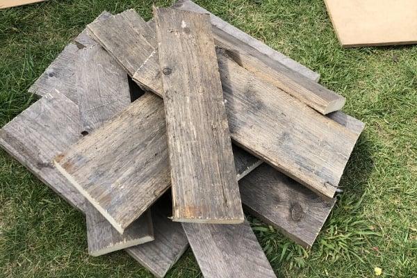 diy large wall art - upcycling pallet wood