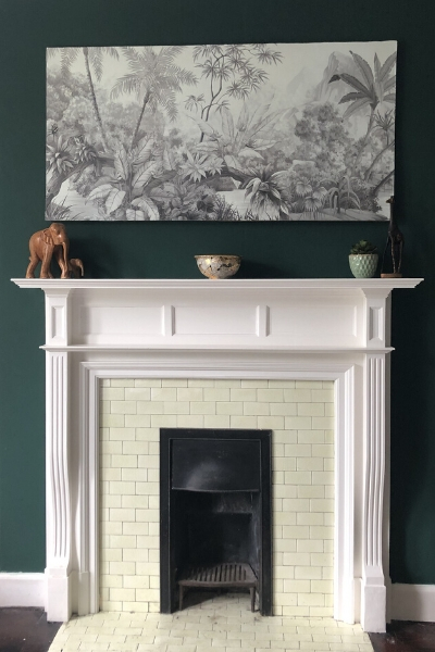 DIY large wall art - over mantle