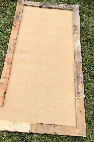DIY large wall art - upcycled wood frame