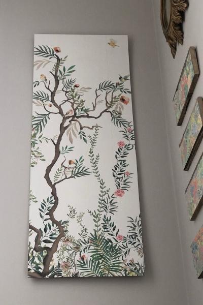 DIY large wall art - woodlands