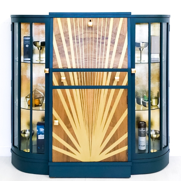 Art Deco drinks cabinet - after