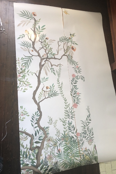 diy wall art from wallpaper murals