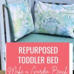 diy garden bench from toddler bed
