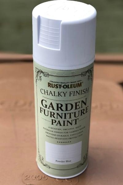 rustoleum chalky finish garden furniture paint