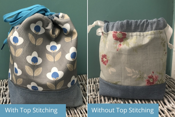 upcycled stretch denim bags