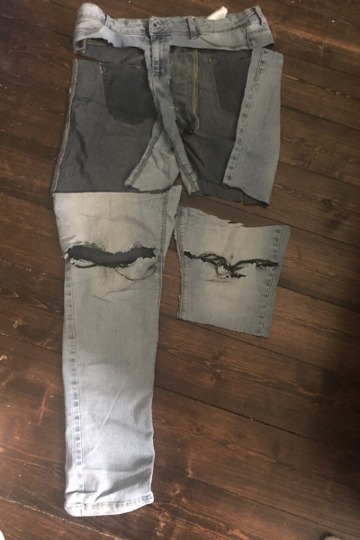 upcycling stretch denim jeans