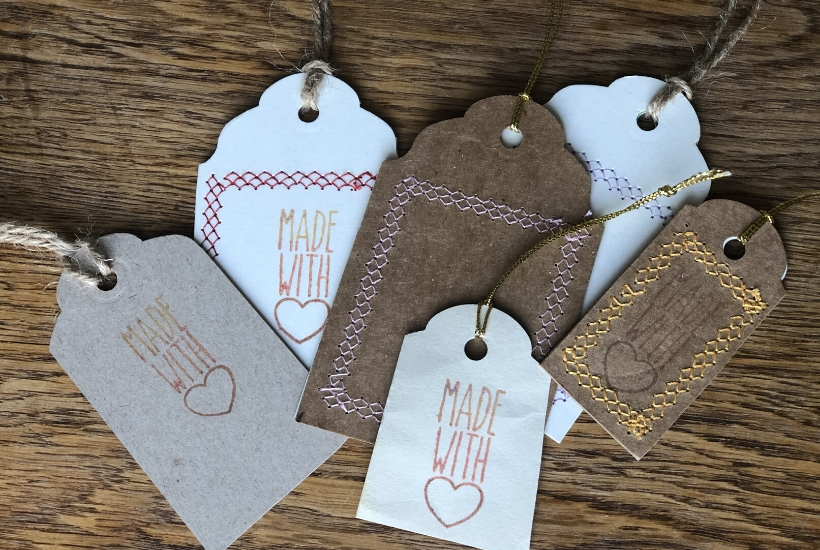 diy kraft tags from upcycled cardboard