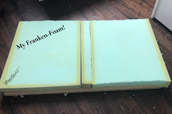 diy toy box seat cushion - franken foam