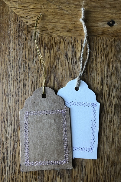 make your own upcycled kraft tags