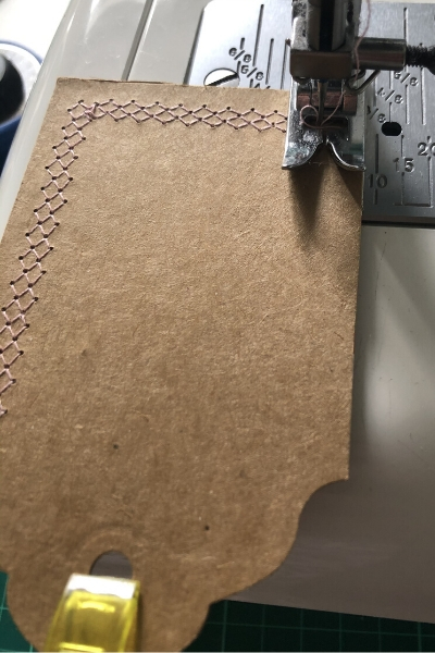 sewing cardboard kraft tags