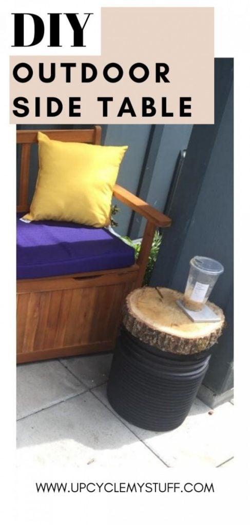 repurposing junk - diy outdoor side table