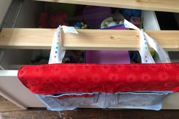 bedside pocket organizer - ties