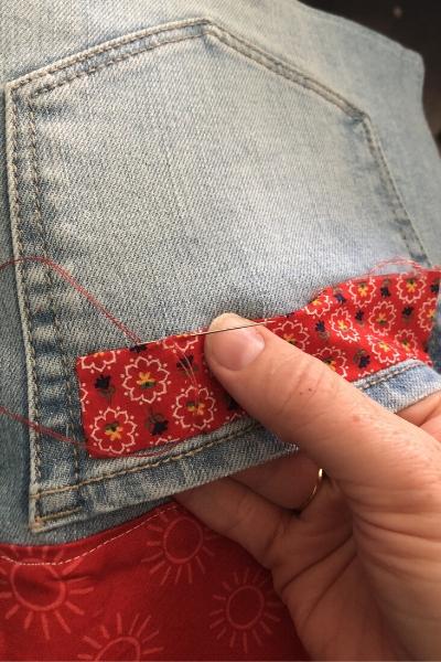 bedside pocket organizer - embellishments
