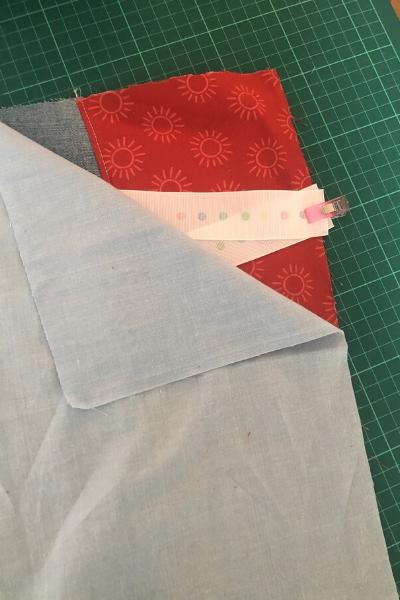 bedside pocket organizer sewing together