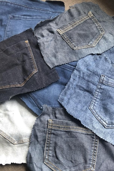 denim jean pockets for handbag project