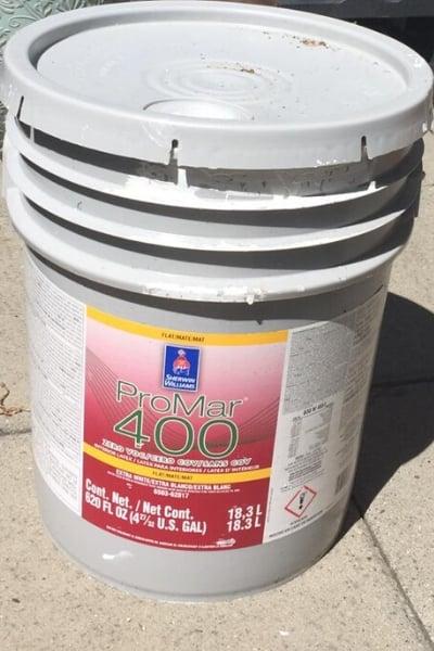 repurposing junk - cleaning old paint tub