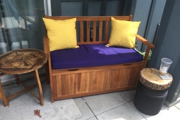 repurposing junk - outdoor side table