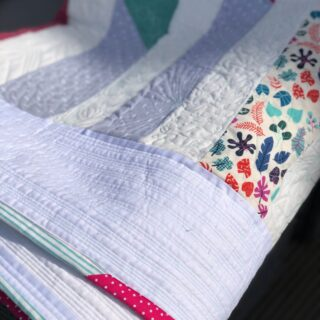 scrappy improv quilt