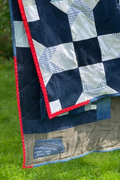 denim quilt binding