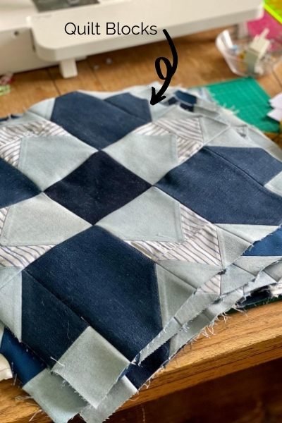 denim quilt blocks