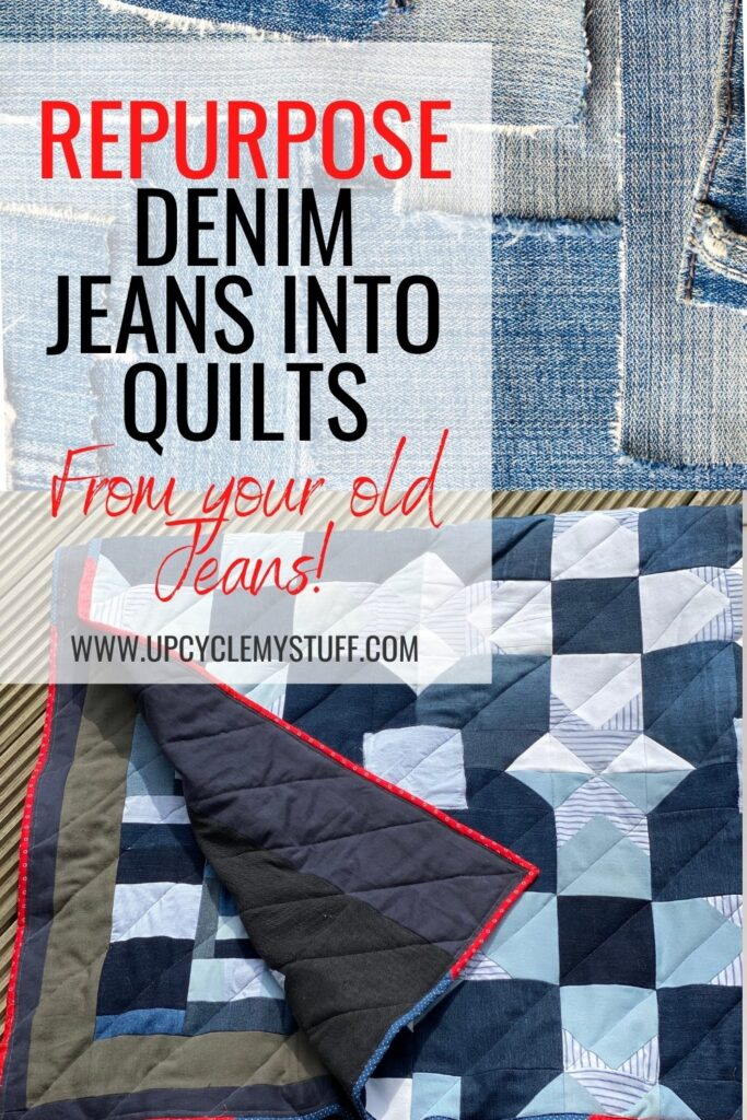 denim quilt from old jeans