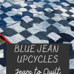 blue jean upcycling - quilt