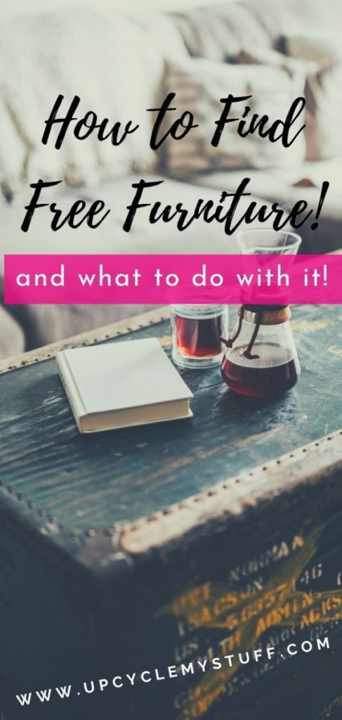 how to find free furniture and what to do with it
