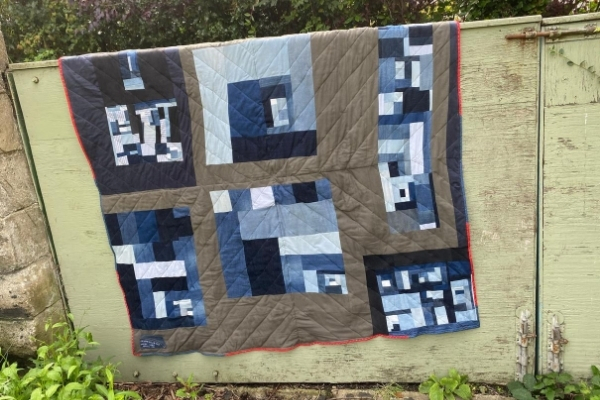 improv denim quilt back